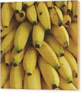 Bananas At The Saturday Market, San Wood Print