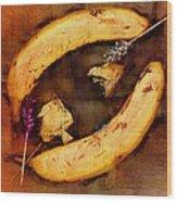 Bananas Pop Art Wood Print