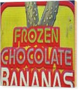Bananas Wood Print by Skip Willits