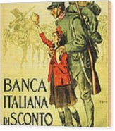 Banca Italiana Di Sconto, 1917 Wood Print