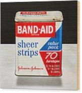 Band-aid Box Wood Print