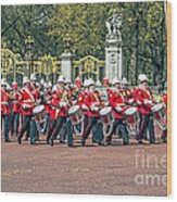 Band Of The Guard Wood Print