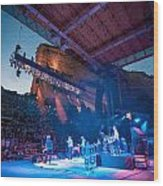 Band On Stage Wood Print