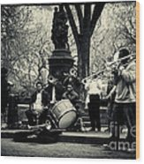 Band On Union Square New York City Wood Print by Sabine Jacobs