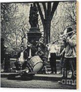 Band On Union Square New York City Wood Print
