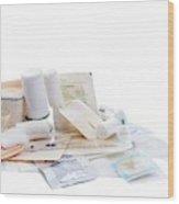 Bandages And Dressings Wood Print
