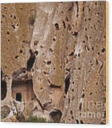 Bandelier Caves Wood Print