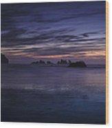 Bandon Beach At Twilight Wood Print by Andrew Soundarajan