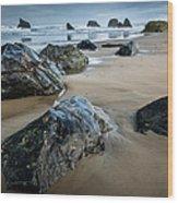Bandon Beach Wood Print