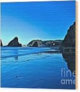 Bandon Blue Wood Print