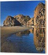 Bandon Low Tide Reflections Wood Print