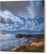 Bandon Nightlife Wood Print