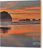 Bandon Orange Pastels Wood Print