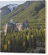 Banff Fairmont Springs Hotel Wood Print