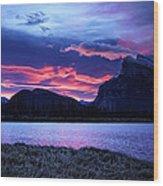 Banff Sunrise  Wood Print
