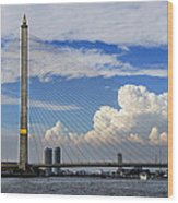 Bangkok - Rama Viii Bridge Wood Print