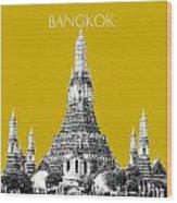 Bangkok Thailand Skyline Wat Arun - Gold Wood Print