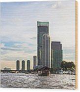 Bangkok Towers Wood Print