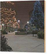 Bangor Maine Christmas Wood Print