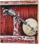 Banjo Mandolin - American Music Wood Print