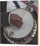 Banjo Music Wood Print
