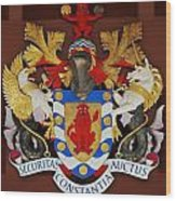 Bank Of Bermuda Coat Of Arms Wood Print
