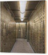 Bank Safe Deposit Boxes Wood Print