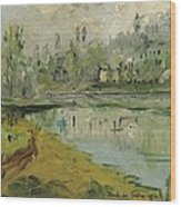 Banks Of The Saone River - Orig. Sold Wood Print