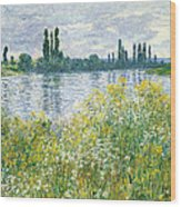 Banks Of The Seine Vetheuil Wood Print