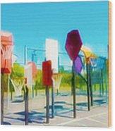 Bankshot Basketball 2 Wood Print by Lanjee Chee