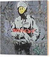 Banksy  Wood Print