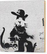 Banksy Boombox  Wood Print