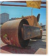 Banksys Steam Rollered Yogi Wood Print
