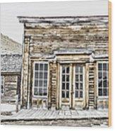 Bannack Assay Office Wood Print