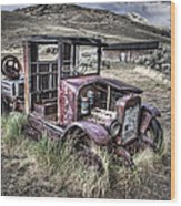 Bannack Ghost Town Truck - Montana Wood Print