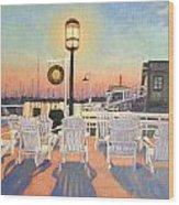 Bannister's Wharf Newport Ri Wood Print by Betty Ann Morris