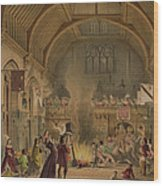 Banquet In The Baronial Hall, Penshurst Wood Print