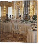 Banquet Room Summer Palace St Petersburg Russia Wood Print