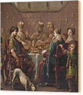Banquet Scene Wood Print