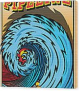 Banzai Pipeline Hawaii Surfing Wood Print by Larry Butterworth
