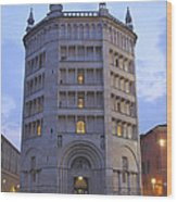 Baptistery Of Parma Wood Print