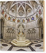 Baptistry At Saint John The Divine Cathedral Wood Print