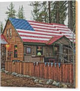 Bar And Grill In South Lake Tahoe Wood Print