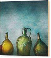 Bar - Bottles - Green Bottles  Wood Print