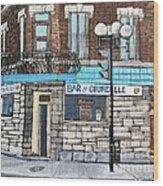 Bar De Courcelle St-henri Wood Print