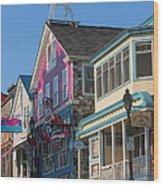 Bar Harbor Downtown  Wood Print