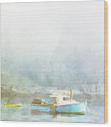 Bar Harbor Maine Foggy Morning Wood Print