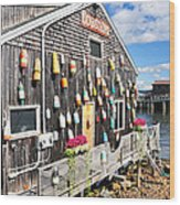 Bar Harbor Restaurant Wood Print