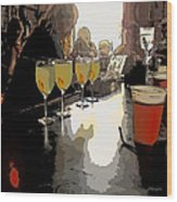 Bar Scene - Absinthe At Pirates Alley Wood Print