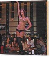 Bar Top Dancer In Las Vegas Wood Print